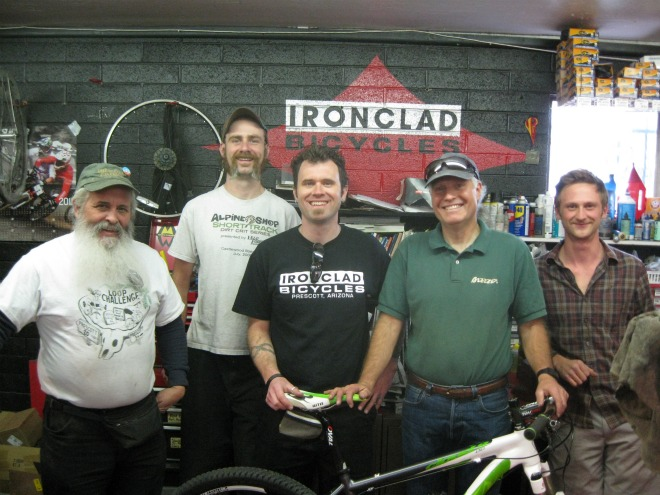 Joe Breeze at Ironclad Bicycles, Prescott, AZ